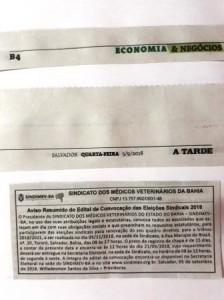 Edital Eleições 2018 Jornal A TARDE COMPACTA